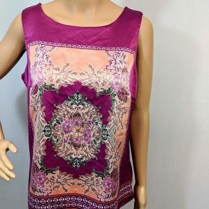 Purple 212 Collection sleeveless handkerchief top